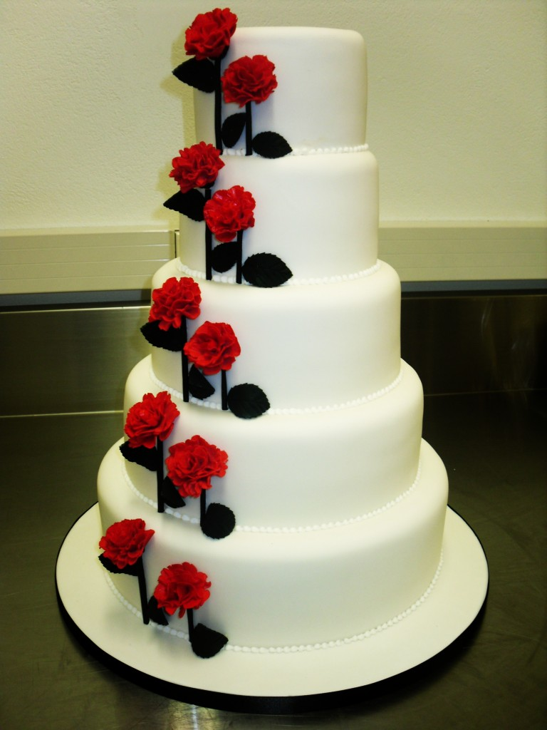Carnations Wedding Cake   Chocolate Earth Cakes