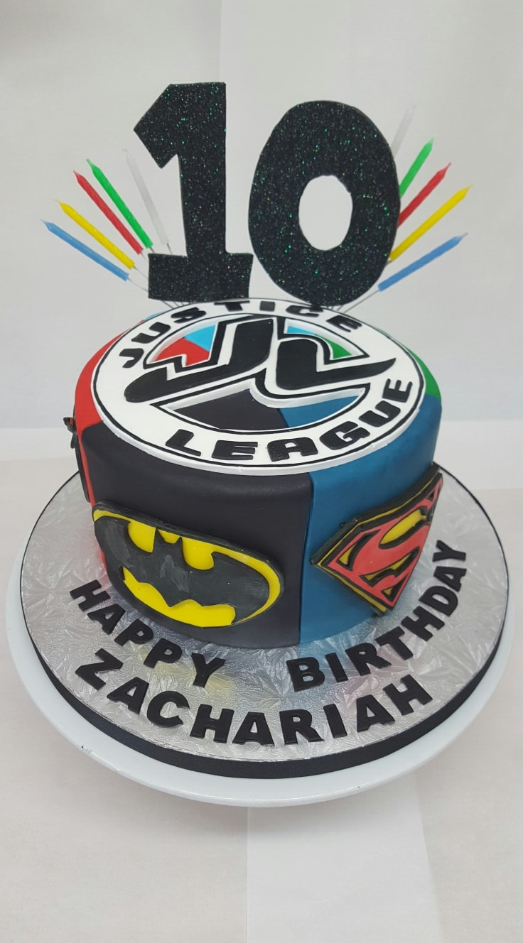 Justice League 10th Birthday Cake Chocolate Earth Cakes